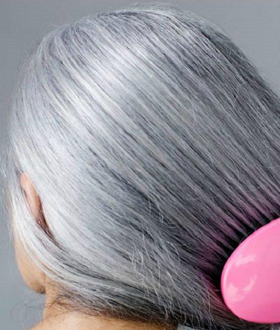 2 gray hair