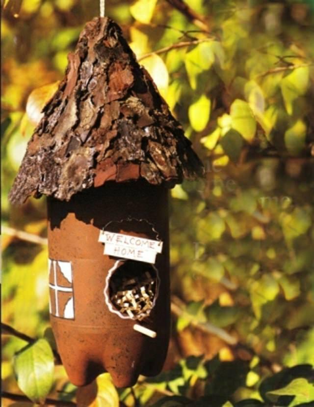 BIRD FEEDER from plastic bottle