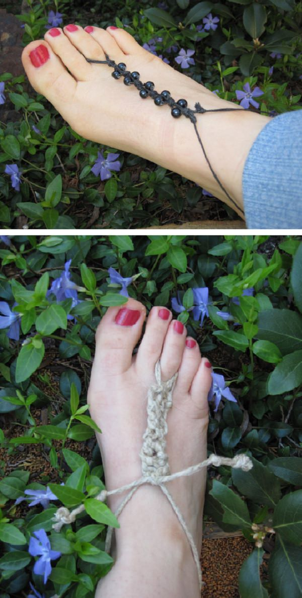 DIY Beaded Barefoot Jewelry