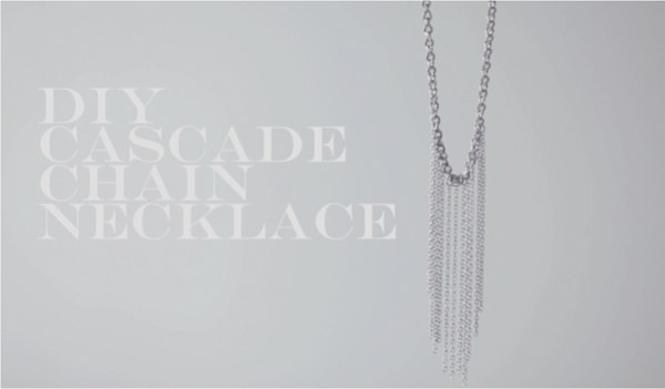DIY CASCADE CHAIN NECKLACE