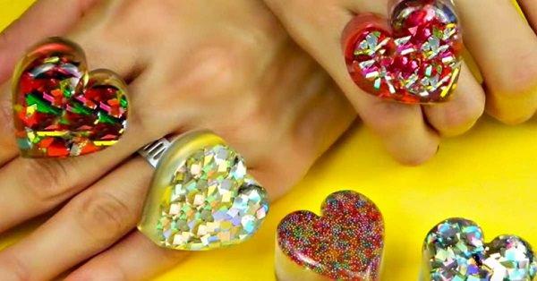 DIY Heart-Shaped Rings