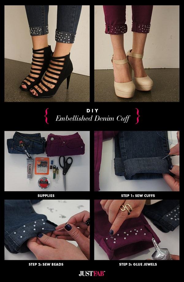 DIY Jeans Cuffs