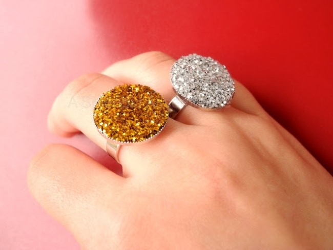 DIY Shiny Statement Rings