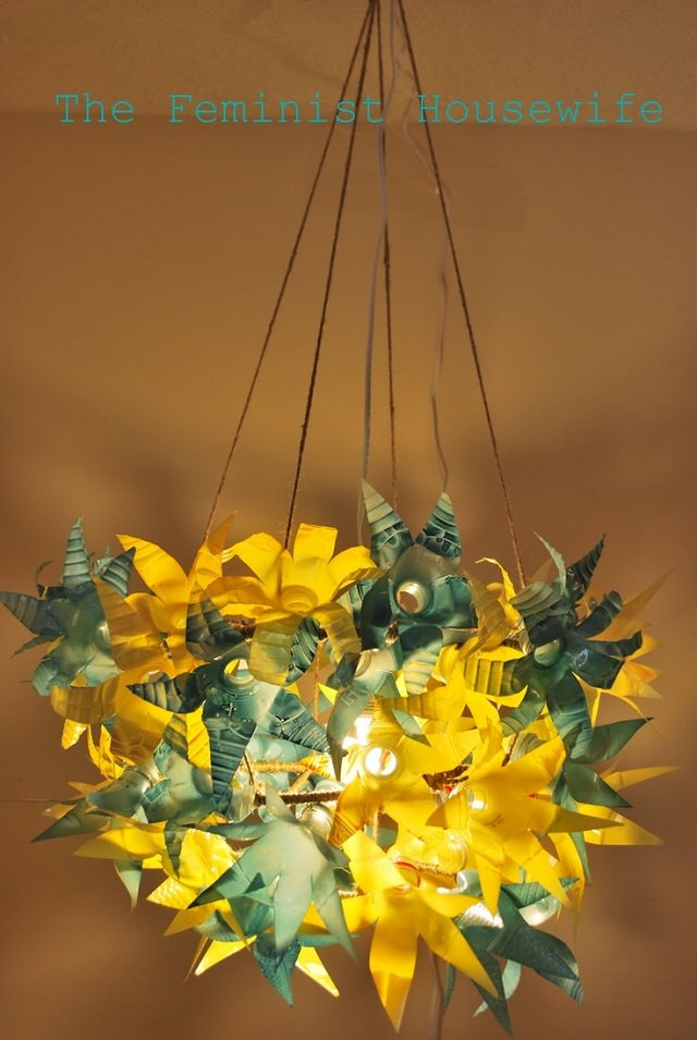 Plastic Bottle Chandelier Tutorial