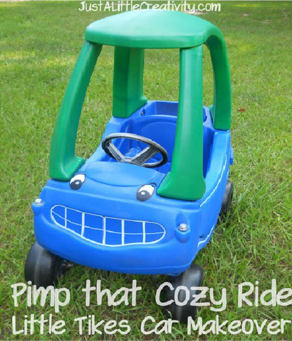 Spray Paint Little Tikes Car