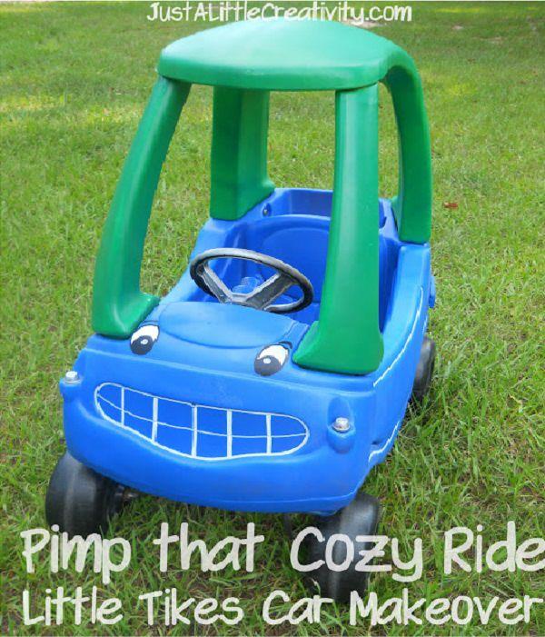 Spray Paint Little Tikes Car