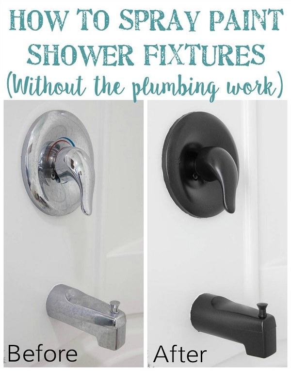 Spray Paint Shower Fixtures