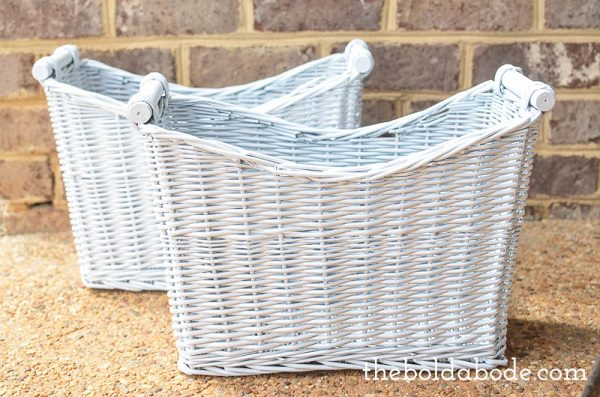 Spray Paint Wicker Baskets
