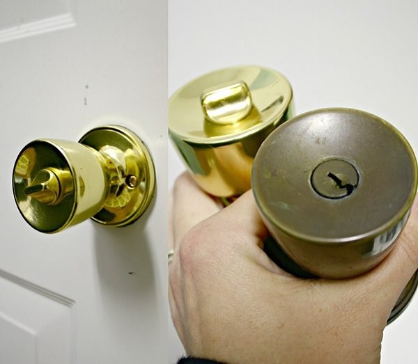 Spray Painted Door Knobs