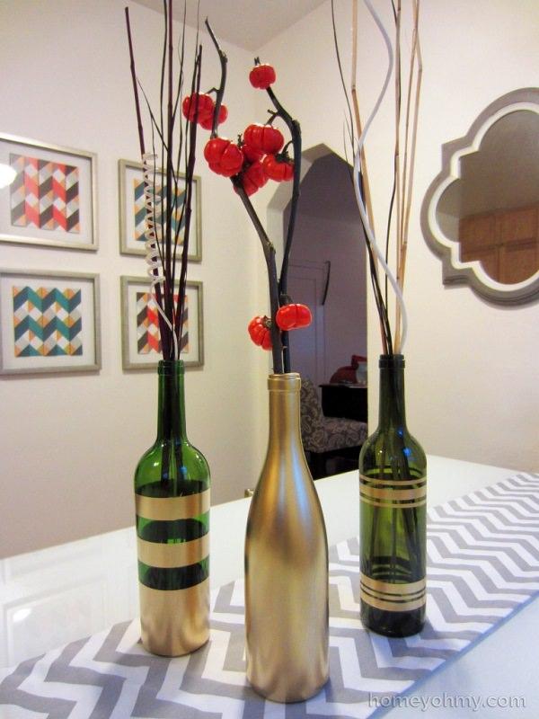 Spray Painted Wine Bottle