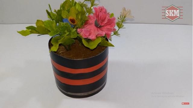 bottle flowerpot