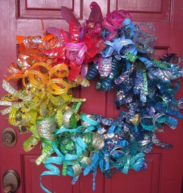 plastic bottle FLOWER WREATH