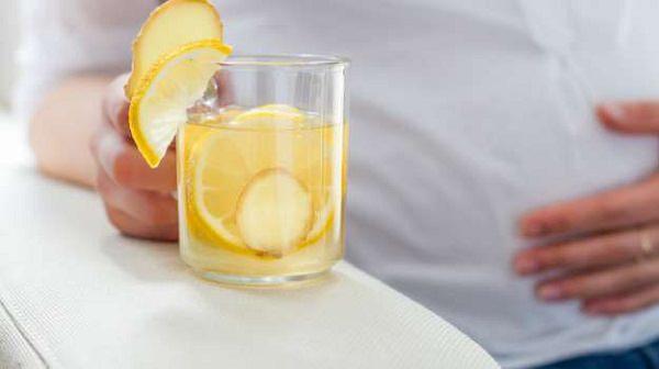 16. Lemon water