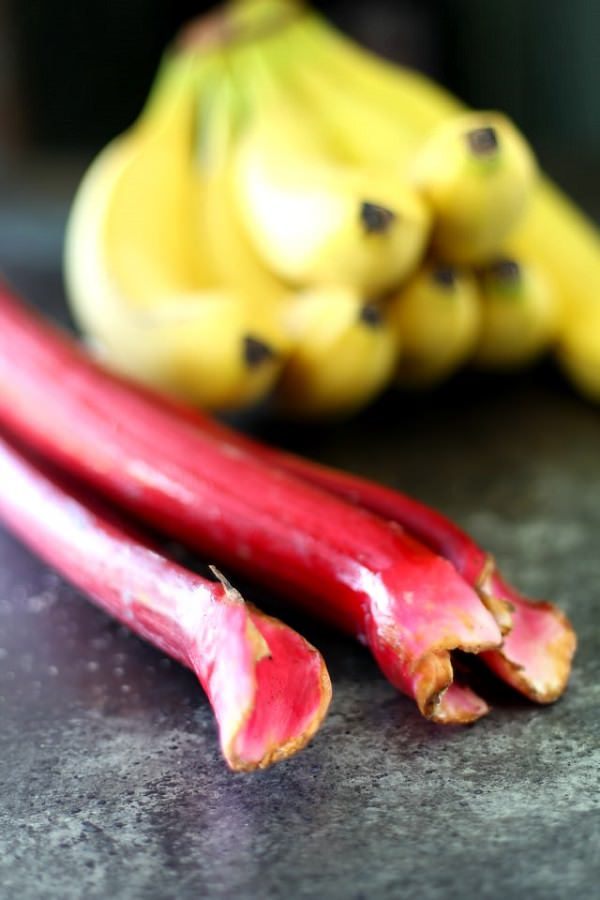 19. Bananas and rhubarb