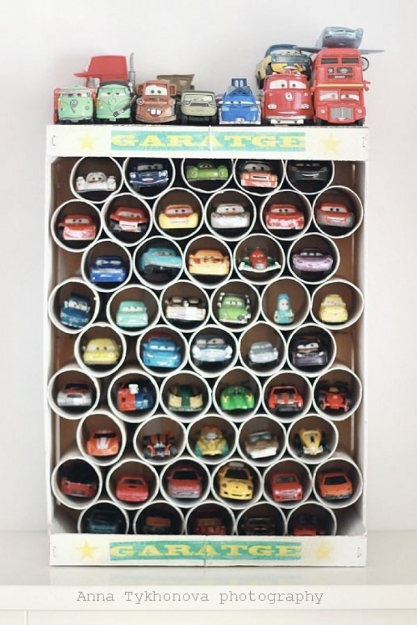 30. Toy Car organizer