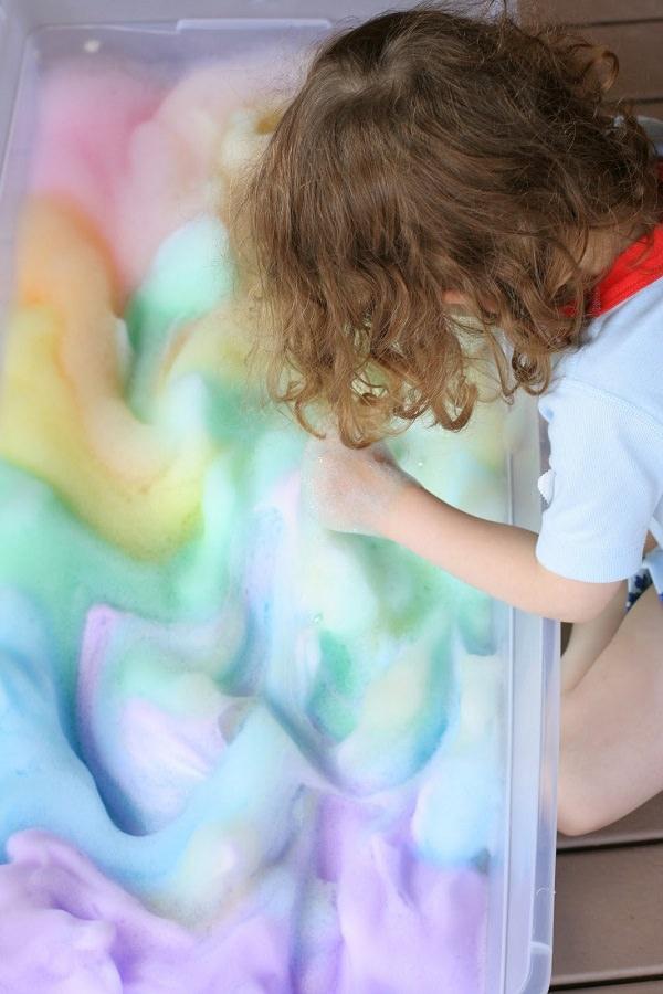 36. Make Sensory Foam Bubbles