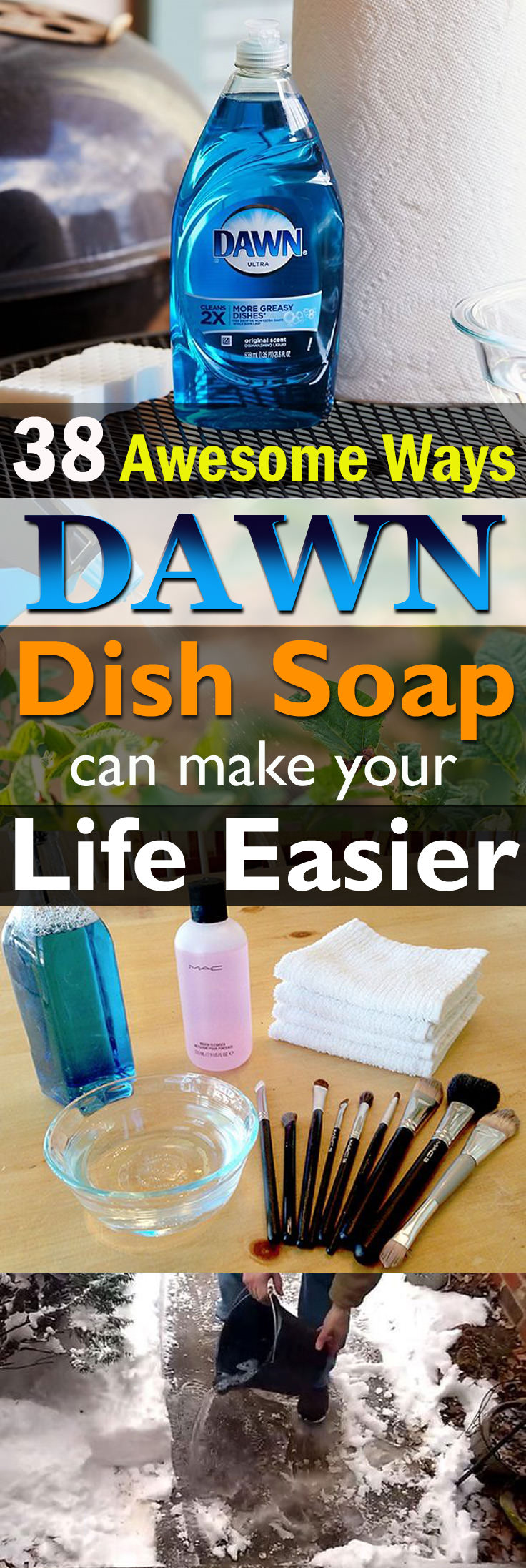 38 Amazing and unique ways to use Dawn Dish Soap in your home and garden. You'll be surprised!