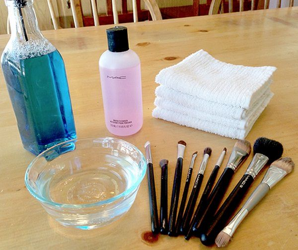 38. Clean Makeup Brushes