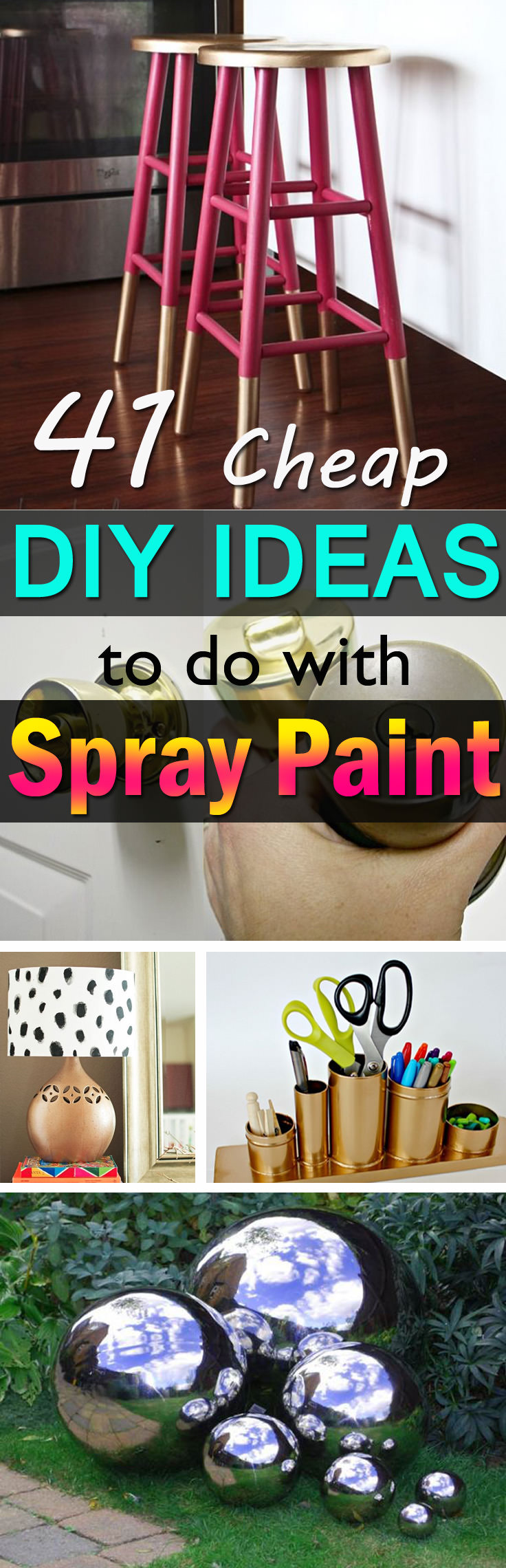 Spray Painting Ideas Part - 37: Spray Painting Is An Apt And Easy Way To Give A Fresh And Magical Makeover  To The Old Items You Have. Check Out These 41 DIY Spray Paint Ideas To  Inspire ...