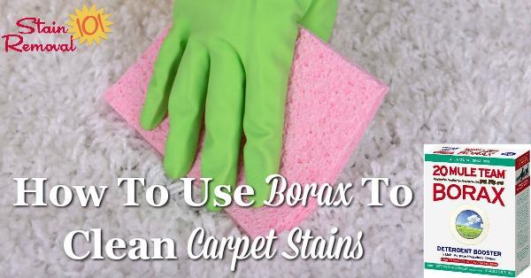 Clean Carpet with borax