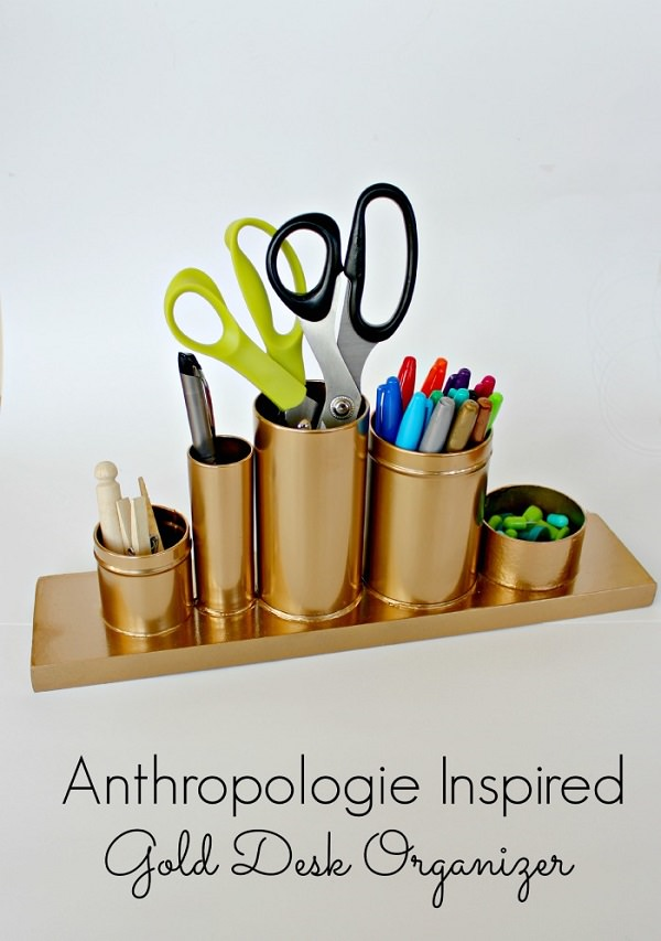 Gold Pencil Holder