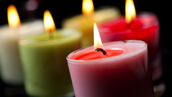 Light scented candles around the house