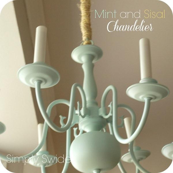 Mint & Sisal Chandelier