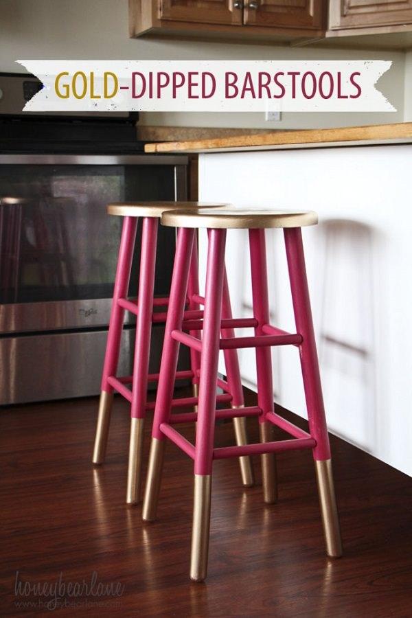 Raspberry Barstools