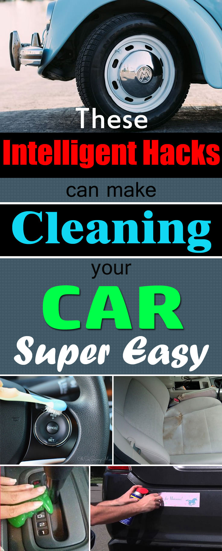 These Car Cleaning Hacks will make cleaning your car easier and save your money and you'll forget the chemical cleaners!