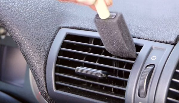 Use a painting brush for the vents