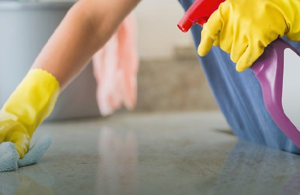 Use disinfectants when cleaning