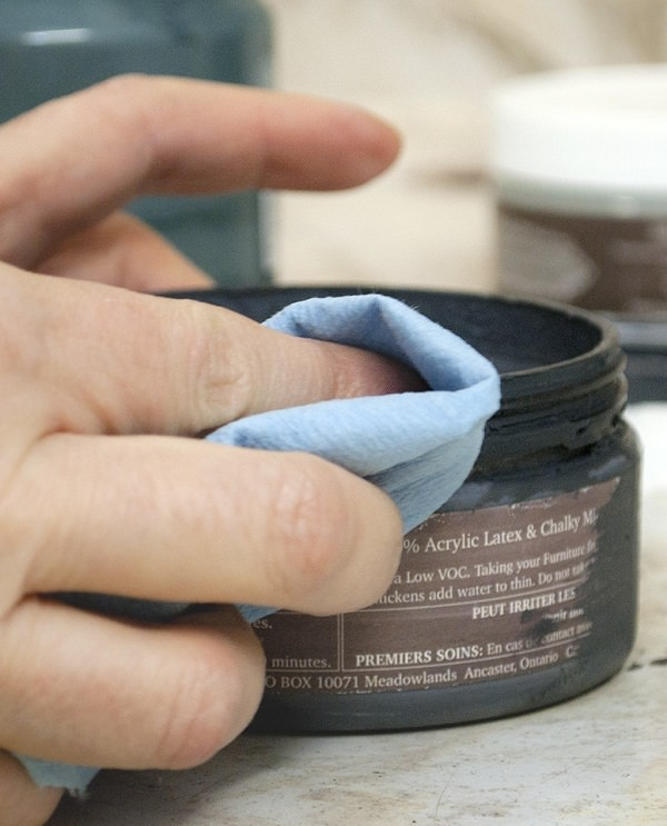 1. Tighten Lid on Paint