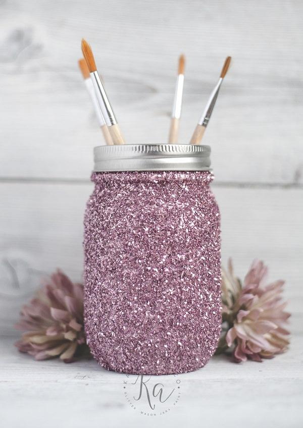 11. Glitter Mason Jar
