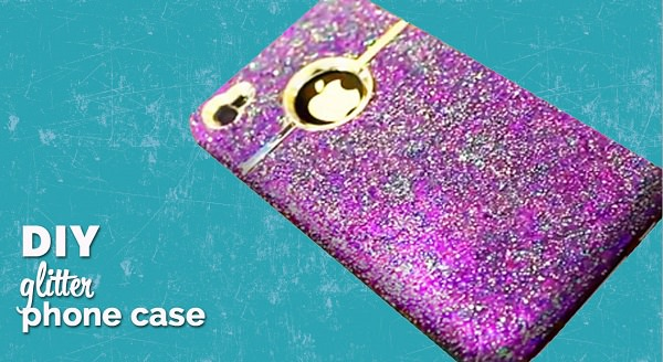 2. DIY Glitter iPhone Cover