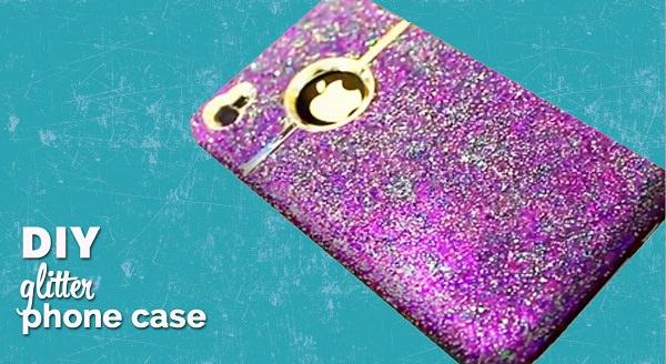 2. DIY Glitter iPhone Cover