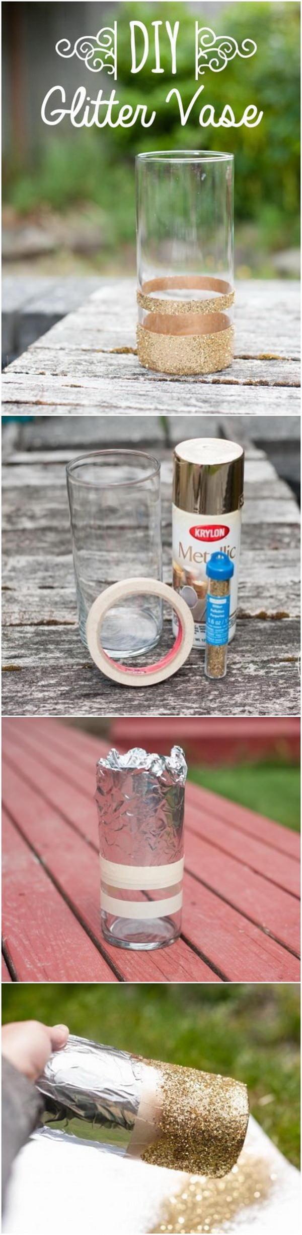 3. Glitter Vase