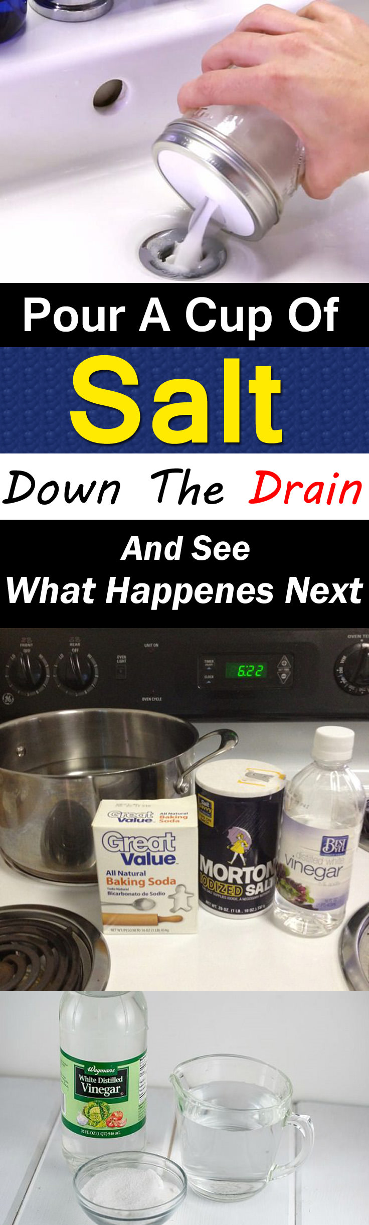 If clogged drain is troubling you, using salt can help you. It's effective. Learn how to do this in this article!