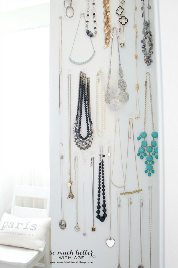 11. Easy Necklace Organization