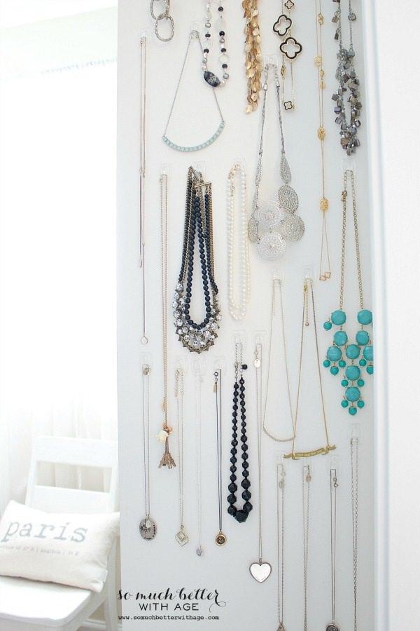 11. Easy Necklace Organization