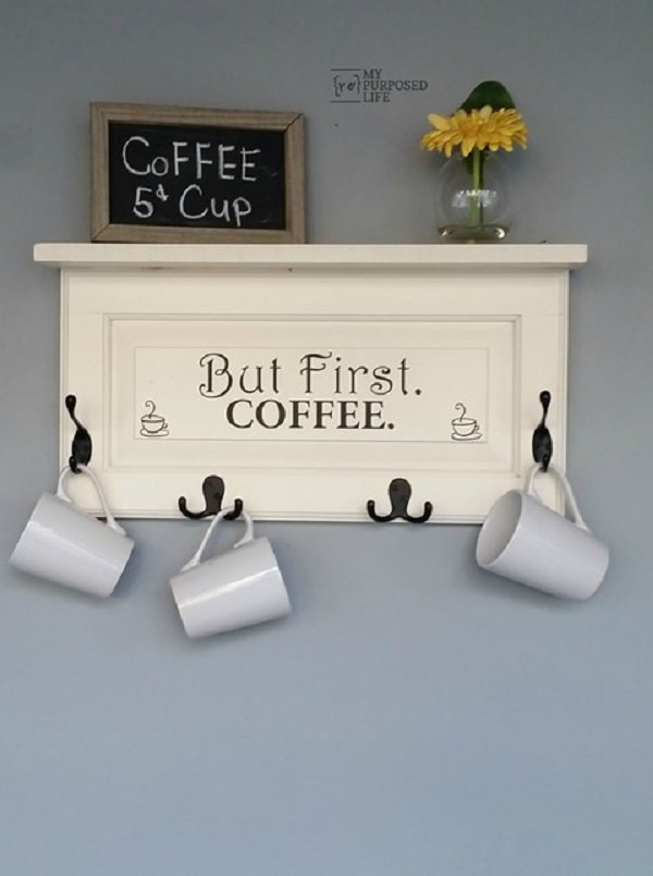 12. Cabinet Door-cum-Coffee Mug Rack