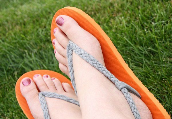 18. Braded flip flops