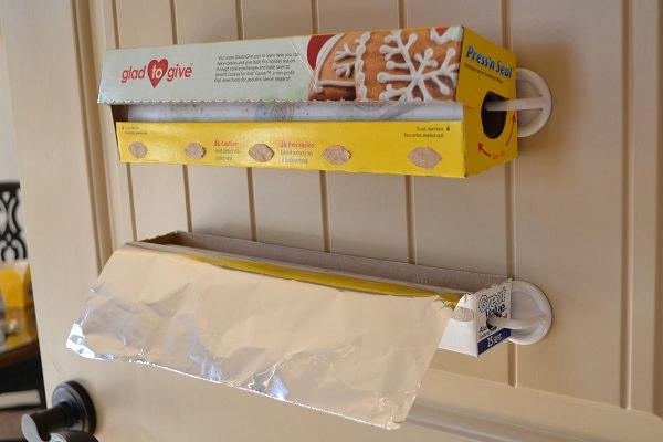 2. Hang Plastic Wrap & Foil