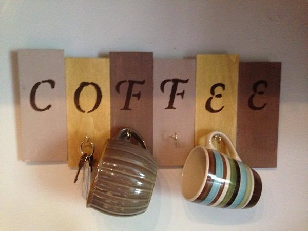 22. Color-Coded Coffee Mug Holder