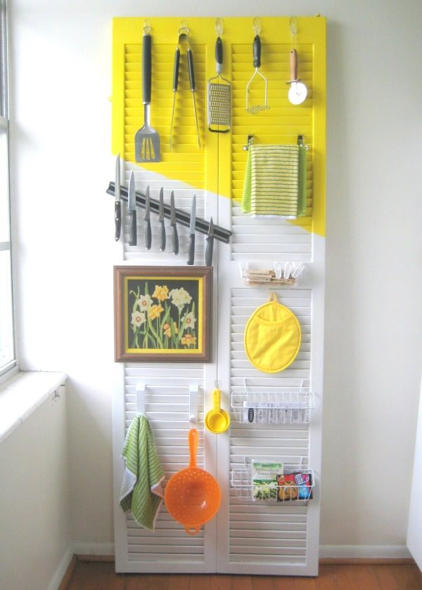 23. Kitchen Door Organizer
