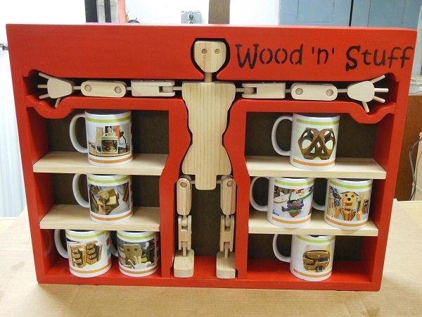 24. Woody's Mug Rack