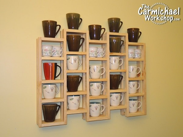 25. DIY Multi-Chambered Mug Rack