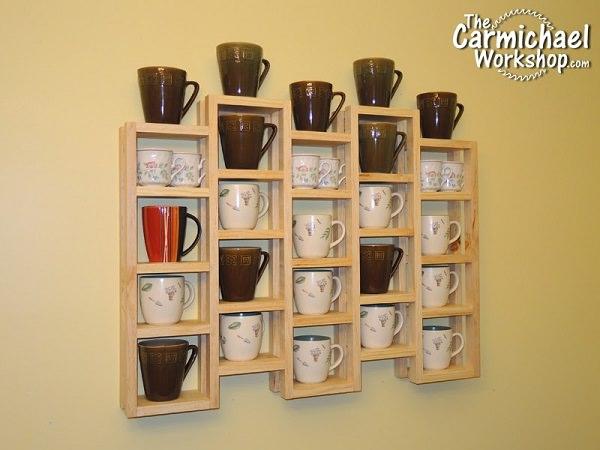 25. DIY Multi-Chambered Mug Rack