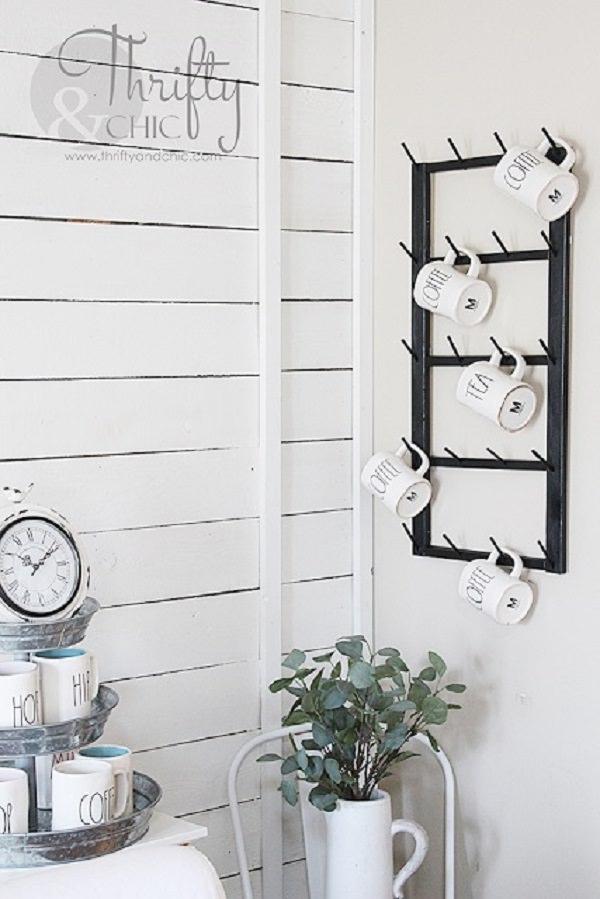 27. DIY Coffee Cup Display Rack