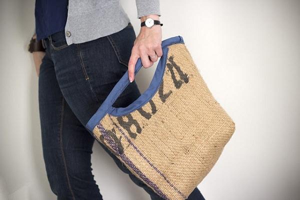 3. Burlap bag with t-shirt lining