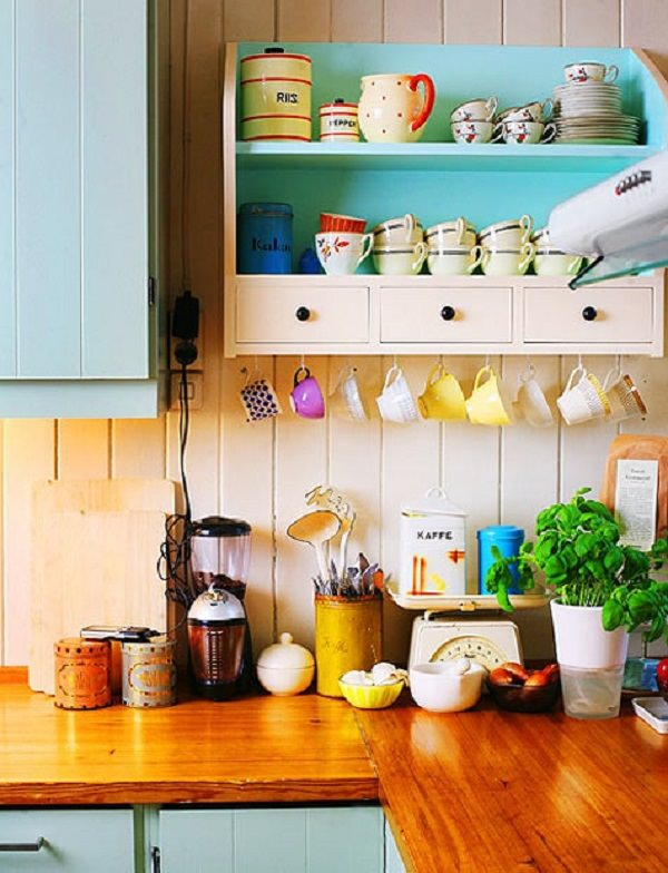 30. Under Cabinet Coffee Mug Rack